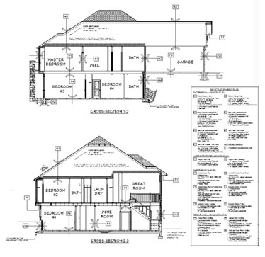 Roof section drawing building sections typically drawn for Floor plan drafting services