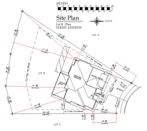 Exciting drafting services for Site plan dimensions